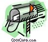 Vector Clip Art graphic  of a Mailbox with letter
