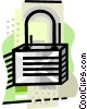 industry, lock Vector Clip Art graphic