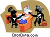 Vector Clip Art picture  of a Office atmosphere