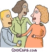 Co-workers discussing things Vector Clipart illustration