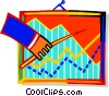 Vector Clipart illustration  of a Hand with pointer and graph