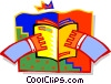 Hands holding book Vector Clipart picture