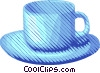 Vector Clipart graphic  of a cup and saucer