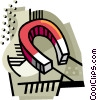 Vector Clipart illustration  of a Magnet