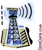 Vector Clipart illustration  of a Telecommunication