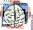 Vector Clipart illustration  of a The brain