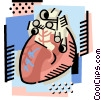 Vector Clipart graphic  of a The heart
