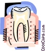 Vector Clip Art image  of a The tooth