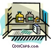 Medication/Pills on cabinet Vector Clipart image