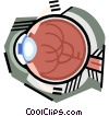 Vector Clipart graphic  of a The eye