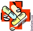Vector Clipart picture  of a Medication