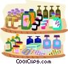 healthcare, two shelves of medicine Vector Clipart graphic
