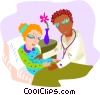 healthcare, nurse with patient Vector Clipart illustration
