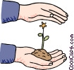 Vector Clipart picture  of a growth