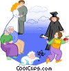 times in a person's life from childhood to old age Vector Clip Art image