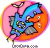 special occasions, Halloween Batman costume Vector Clip Art picture