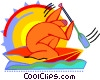 Figure canoeing Vector Clipart graphic