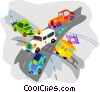 Vector Clip Art graphic  of a traffic