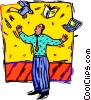 Vector Clipart graphic  of a Juggling life