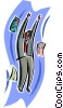 Vector Clip Art graphic  of a business man