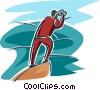 Vector Clipart graphic  of a man with binoculars