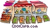 Vector Clipart illustration  of a outdoor food market