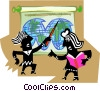 Figures teaching Vector Clip Art picture