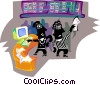 People at stock exchange Vector Clipart image