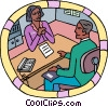 human resources, business interview Vector Clipart image