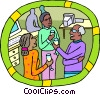 Human resources, office party Vector Clipart picture