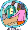 Vector Clipart picture  of a human resources