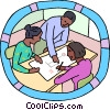 Vector Clipart picture  of a Business meeting
