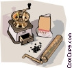Vector Clipart image  of a coffee grinder