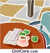 morning coffee Vector Clip Art graphic