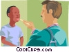 Check up Vector Clipart illustration