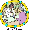 pharmacy dispensary, prescription drugs Vector Clip Art picture