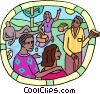 human resources, company picnic Vector Clip Art picture