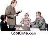 business meeting, people in business Vector Clip Art picture