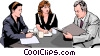 business meeting, people in business Vector Clip Art graphic