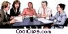 business meeting, people in business Vector Clipart illustration