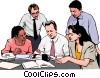Business meeting, people in business Vector Clip Art image