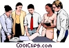 business meeting, people in business Vector Clipart image