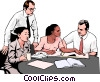 Vector Clip Art graphic  of a business meeting