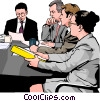 Business meeting, people in business Vector Clipart graphic