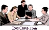 Vector Clipart illustration  of a business meeting