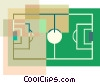 Soccer field Vector Clip Art graphic