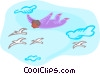 Vector Clipart picture  of a soaring like a bird