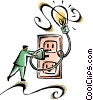 Vector Clip Art picture  of a electricity