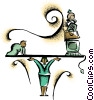 Vector Clip Art graphic  of a balance