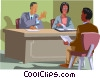 Vector Clip Art picture  of a human resources